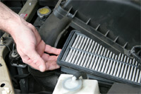 PCV Valve and air filter service